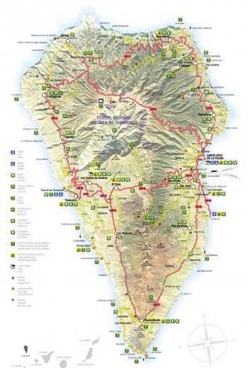 mapa isla de la palma, turismo de estrellas, starsisland