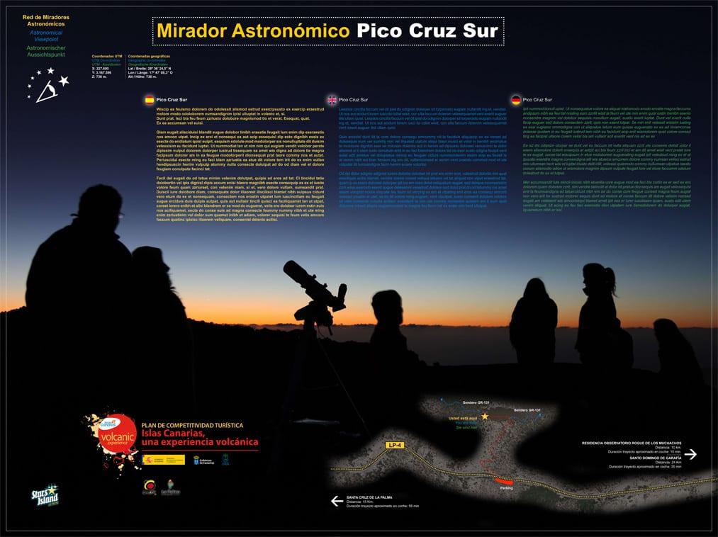 mirador pico cruz, turismo de estrellas, isla de la palma, canarias